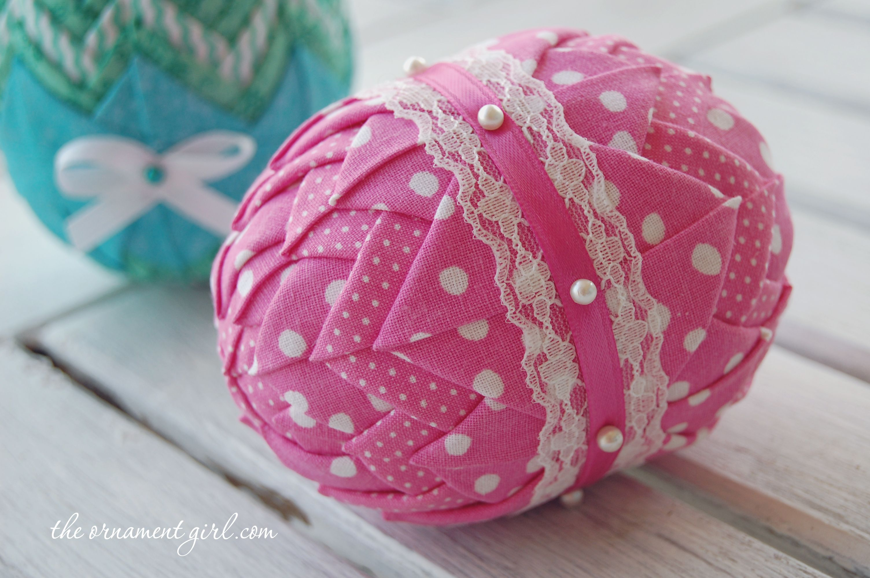 Folded Fabric Patterns - Quilted Fabric Easter Egg Pattern -