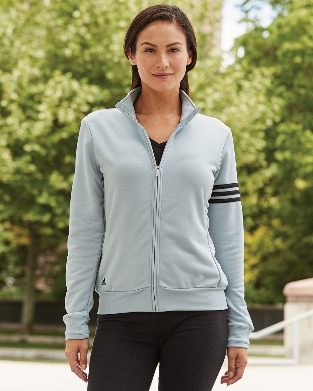 Adidas French Terry ClimaLite 3 Stripes Jacket | Zip