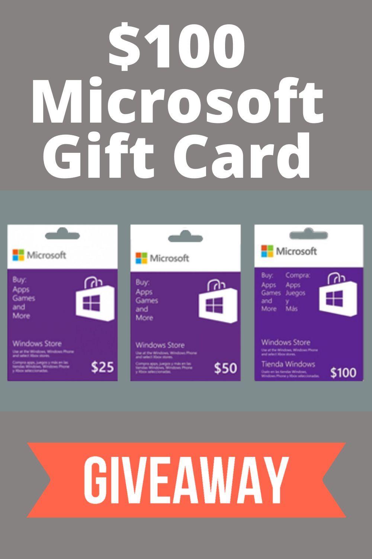 Free 100 microsoft gift card giveaway card free gift