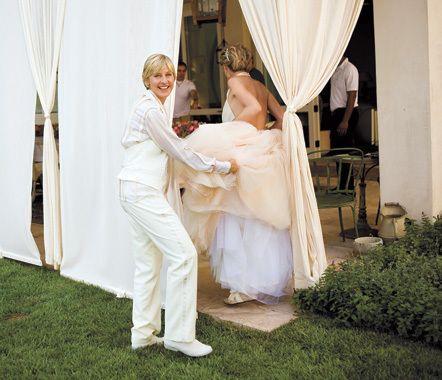 Ellen And Portia S Wedding Day Ellen And Portia Wedding Ellen And Portia Ellen Degeneres And Portia