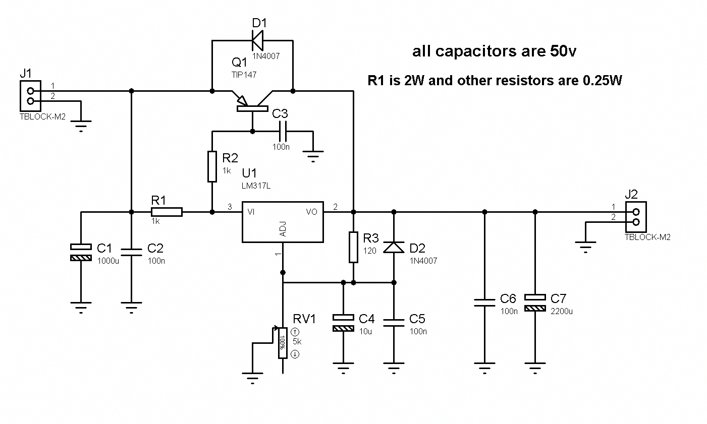 1.2-36V 5A Adjustable Power Supply with LM317 #