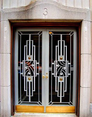 Art Deco Doors in NYC Doors Pinterest Ventana, Puertas