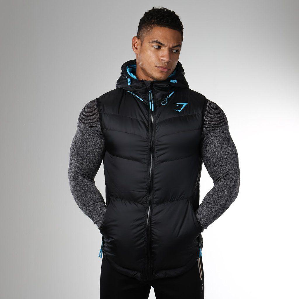 Medium Mens Gymshark Sector Gilet Vest V2 Charcoal