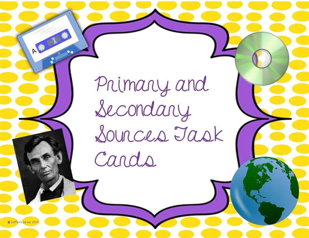 Primary And Secondary Sources Are A Great Way To Learn