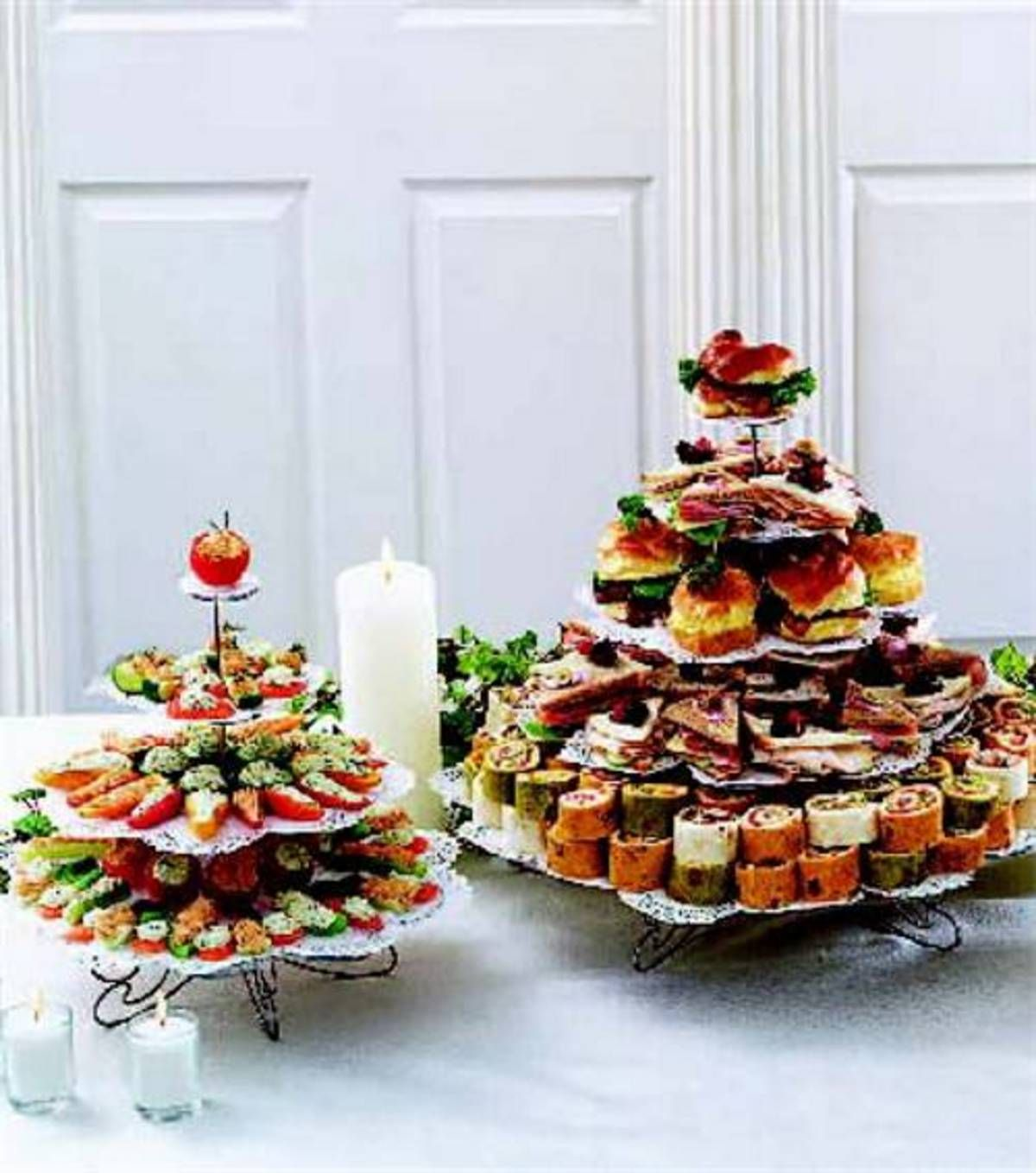 Wedding Party Food: Tea Sandwiches And Veggie Appetizers -- Perfect For Your