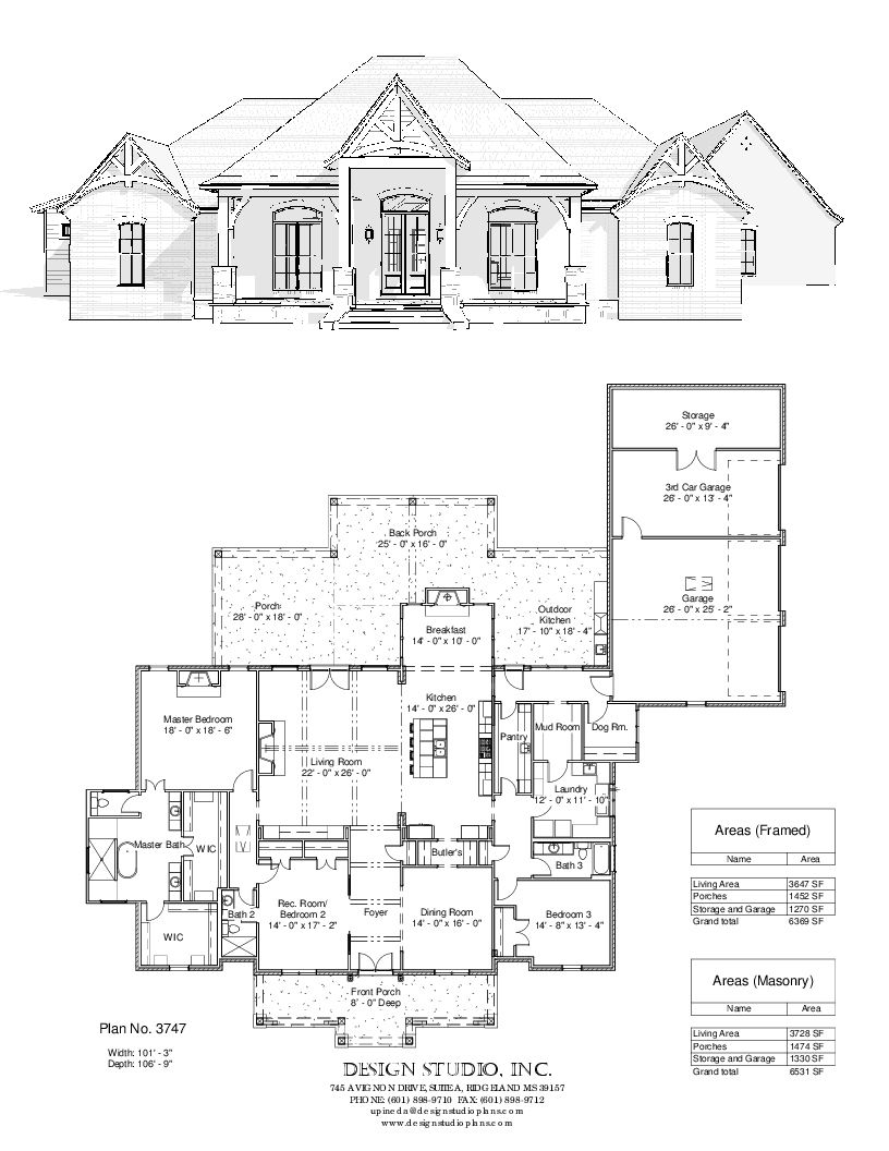 Plan 3747 Design Studio French House Plans New House Plans House Blueprints