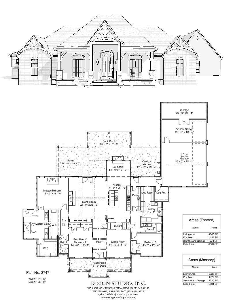 Plan 3747 Design Studio French House Plans New House Plans House Blueprints