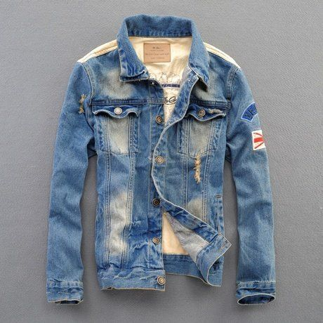 New Mens Jacket Hole Ripped Casual Denim Tops Slim Fit Jeans Short Coats Outwear