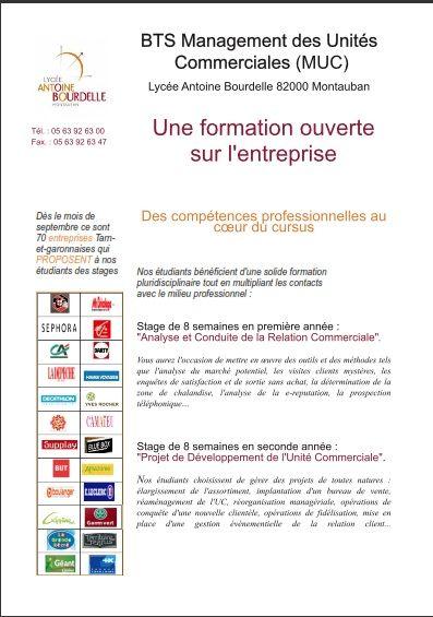 Bts Muc Lycee Antoine Bourdelle Montauban Lettre De Motivation Modeles De Lettres Assistante De Direction