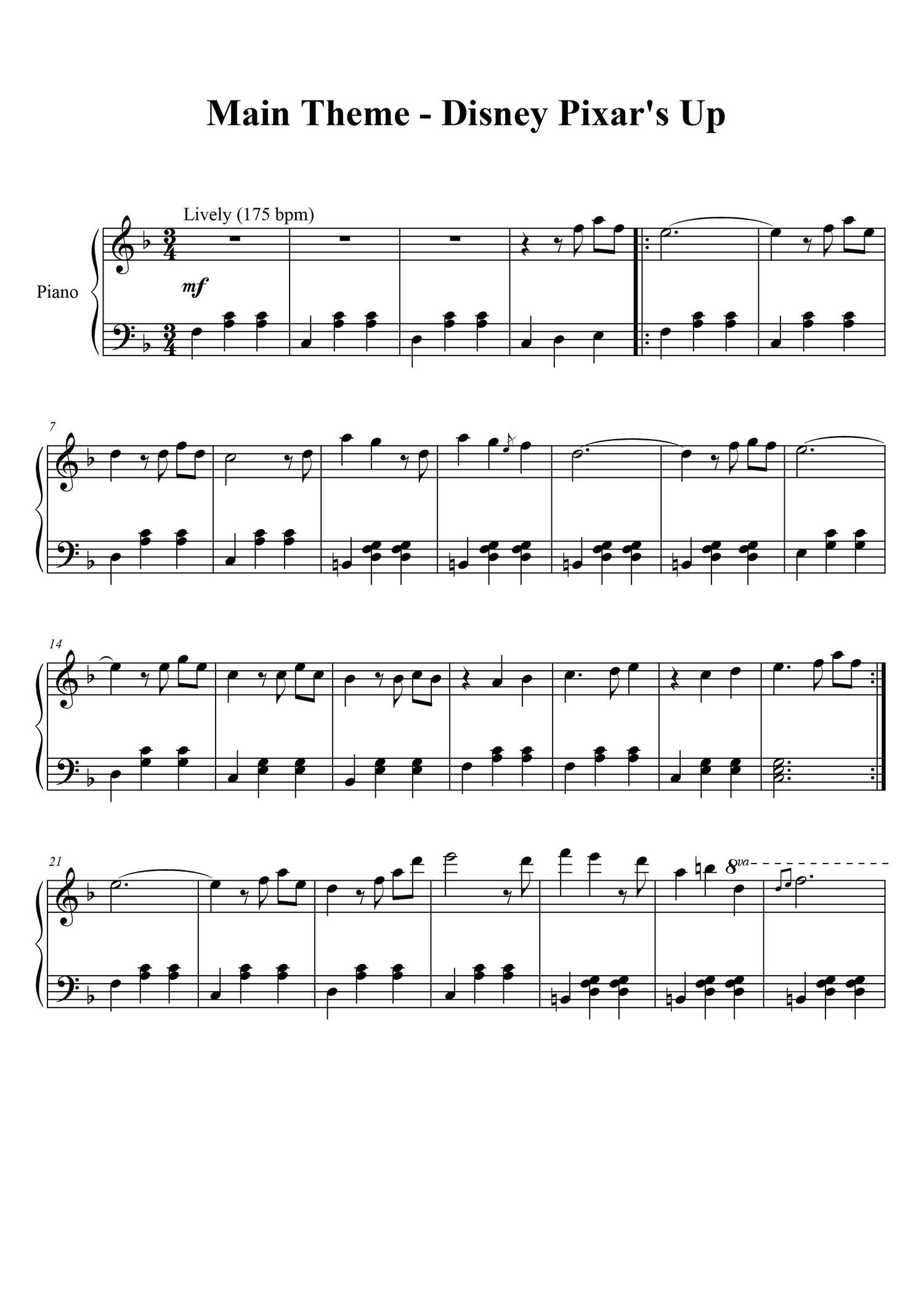 Image result for married life piano sheet music easy
