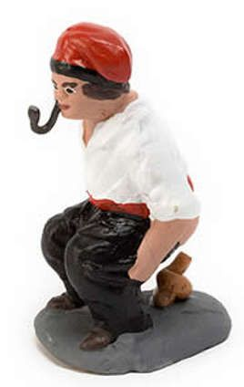 Caganer Shitting Peasant Always Present In A Catalan Christmas Crib