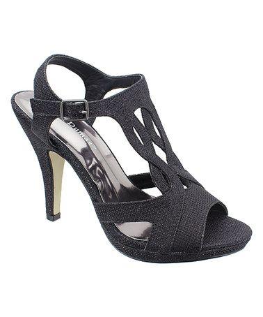Look at this #zulilyfind! Black Glitter Sanibel Sandal #zulilyfinds