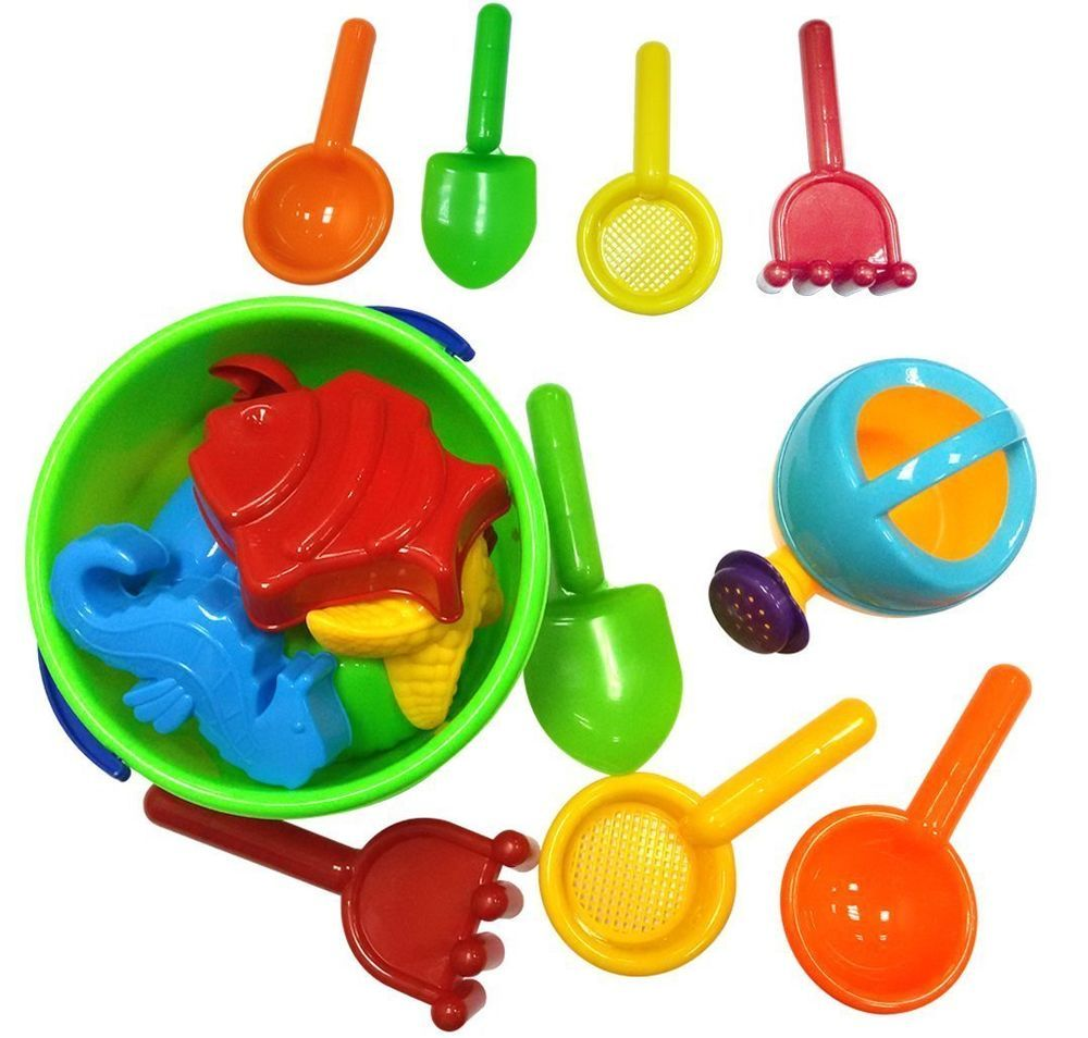 Beach Toys 16 Pcs Tub Bath Toys for Toddlers, Outdoor Creativity for ...