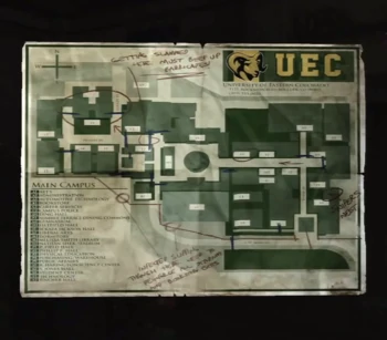 Uec Campus Map The Last Of Us Wiki Fandom Campus Map The Last Of Us Campus