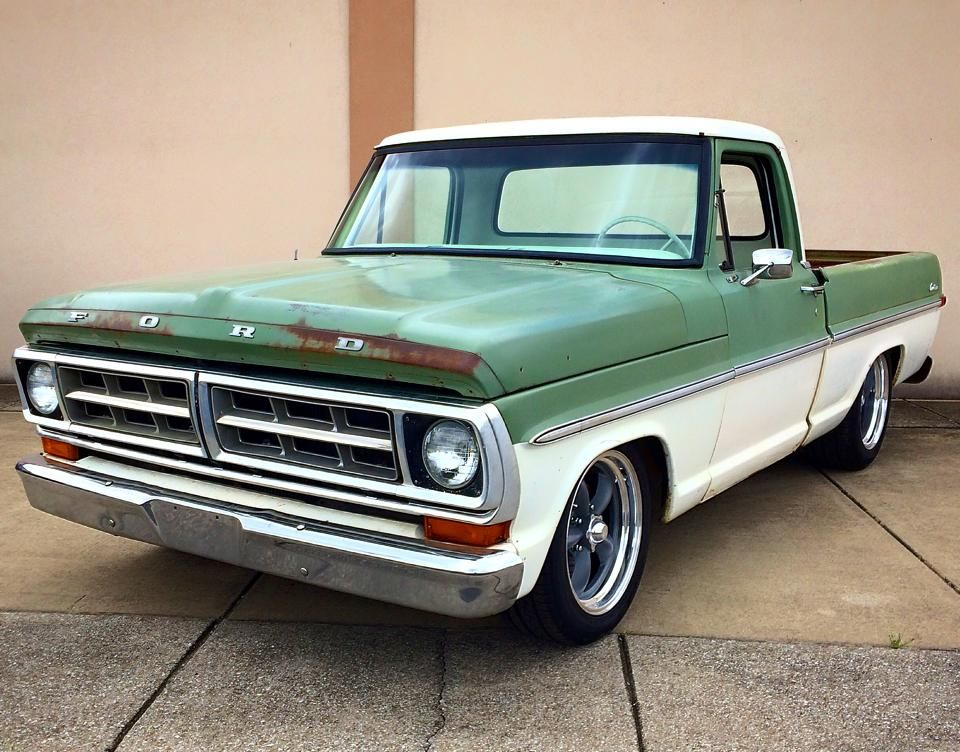 71 Ford F 100 Classic Ford Trucks Old Ford Trucks Vintage Pickup Trucks