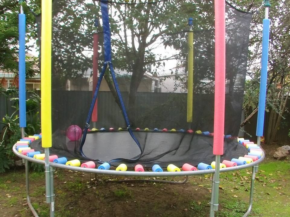 The Whoot Pool Noodle Trampoline Backyard Trampoline Trampoline Springs