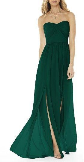 Women's Social Bridesmaids Strapless Georgette Gown https ...