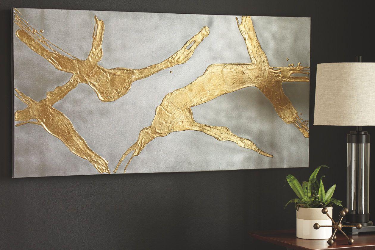 Kasondra Wall Art Ashley Furniture Homestore Gold Wall Art Outdoor Metal Wall Art World Map Wall Art