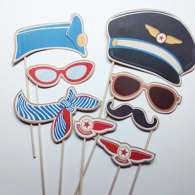 35 Pilot Party Props Airplane Party Diy Printable Photo Booth: I'm Having So Much Fun Working On This Grown Up Airplane