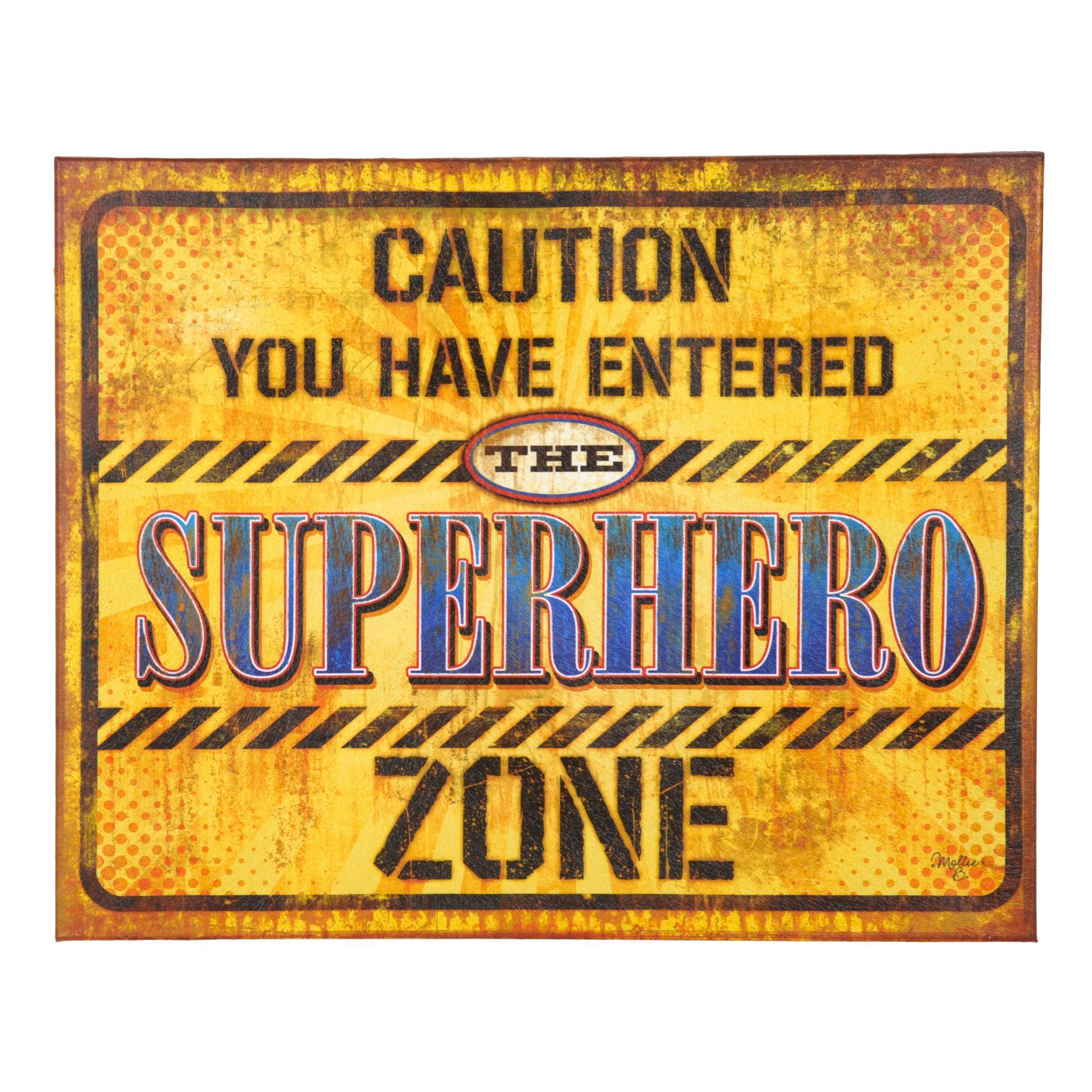 Superhero Zone Canvas Plaque | Superhero, Canvases and Cricut