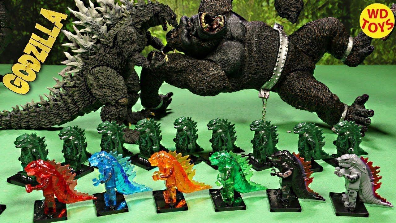 New 16 Godzilla Lego Action Figures Surprise Eggs King