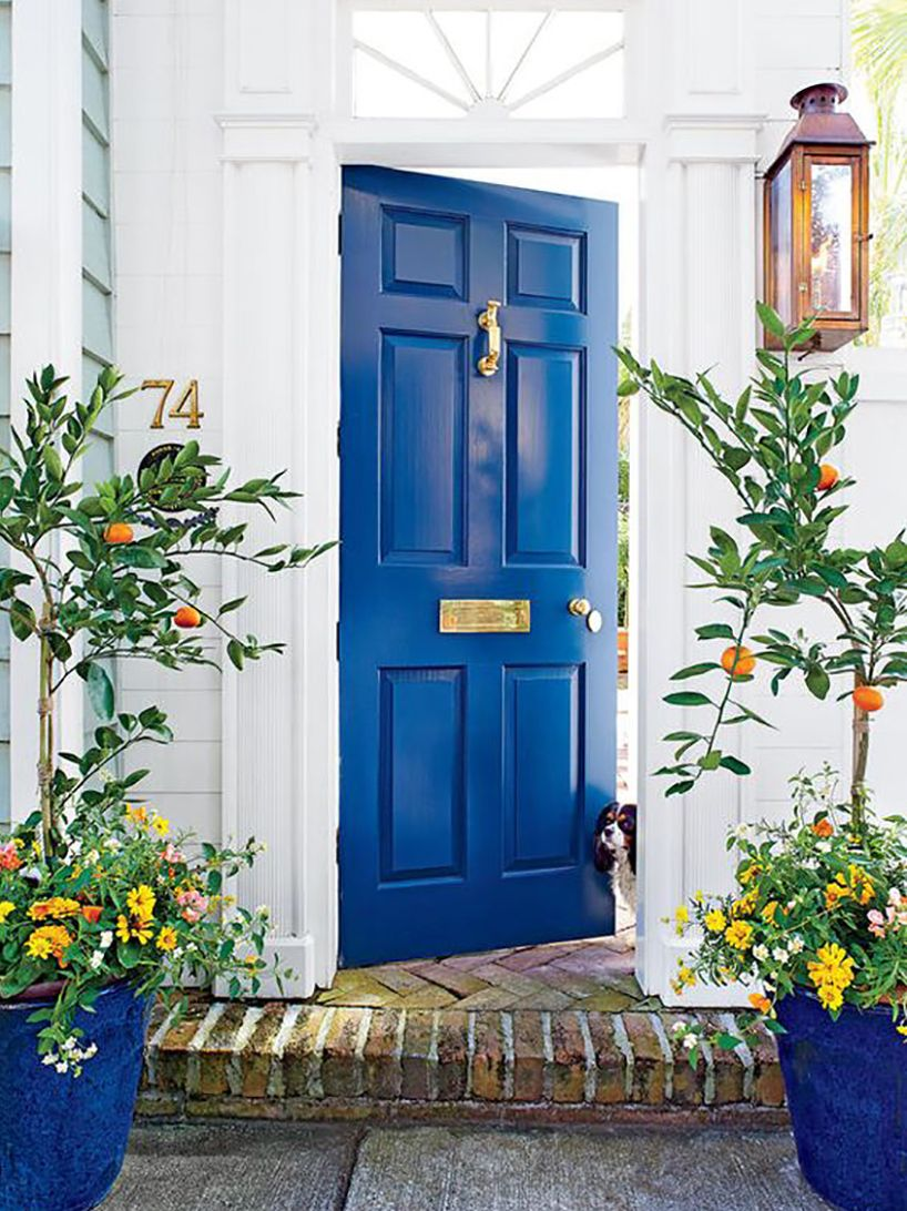 Are Blue And Black Colors Good Feng Shui For Your Front Door In