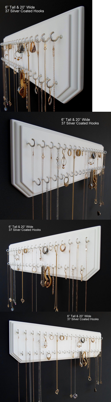 MultiPurpose 168165 6X20 White 37 Silver Jewelry Organizer