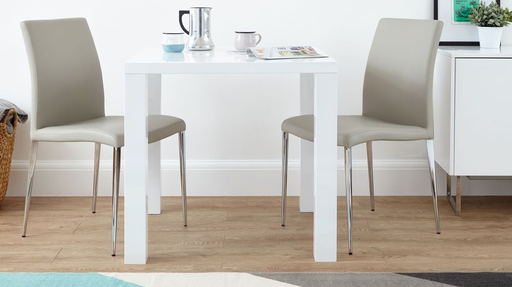 2 seater white gloss square dining table fern and elise kitchen dining set   square dining tables dining      rh   pinterest com