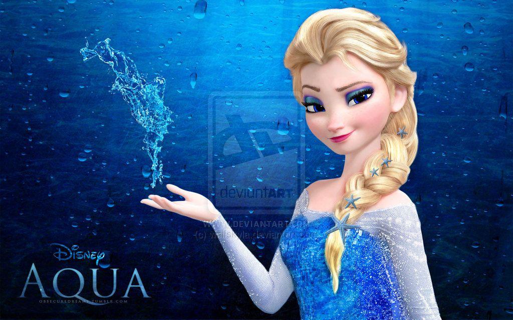 Water elsa aqua by wolfskylaiantart on deviantart frozen disney pixar thecheapjerseys Image collections