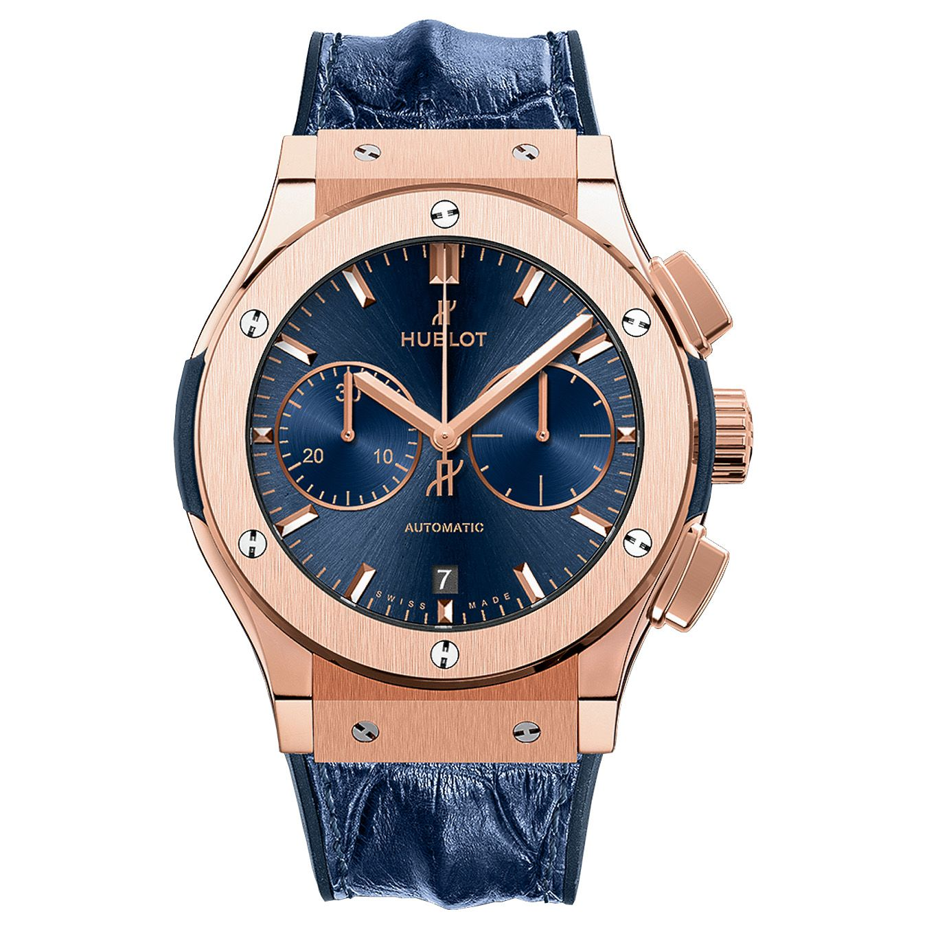 2b6faa7c9ff Hublot Classic Fusion Blue Chronograph King 45mm 521.OX.7180.LR Rose ...