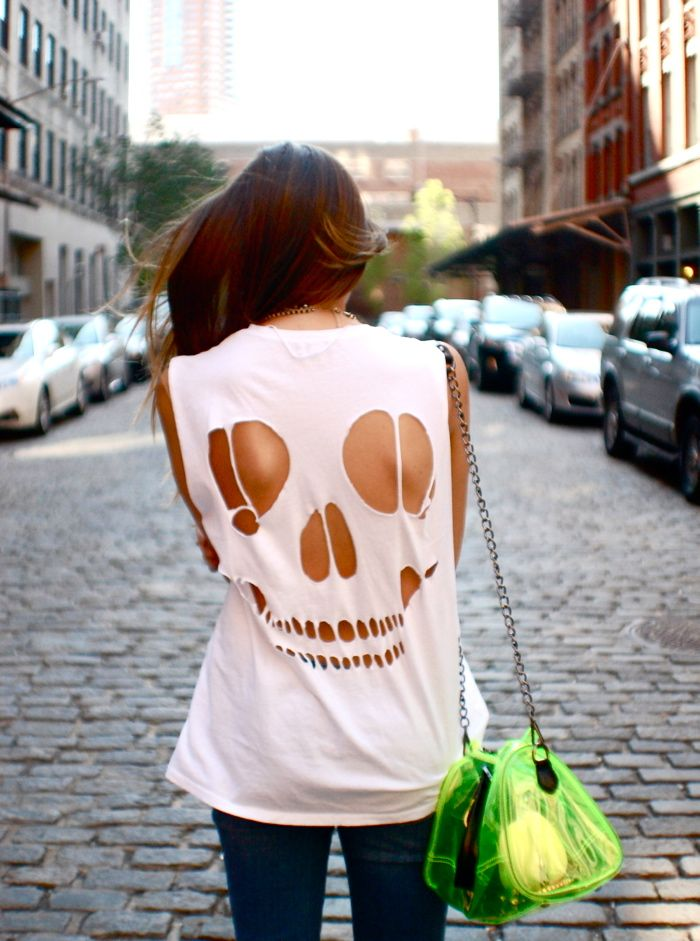 skull cut-out for halloween