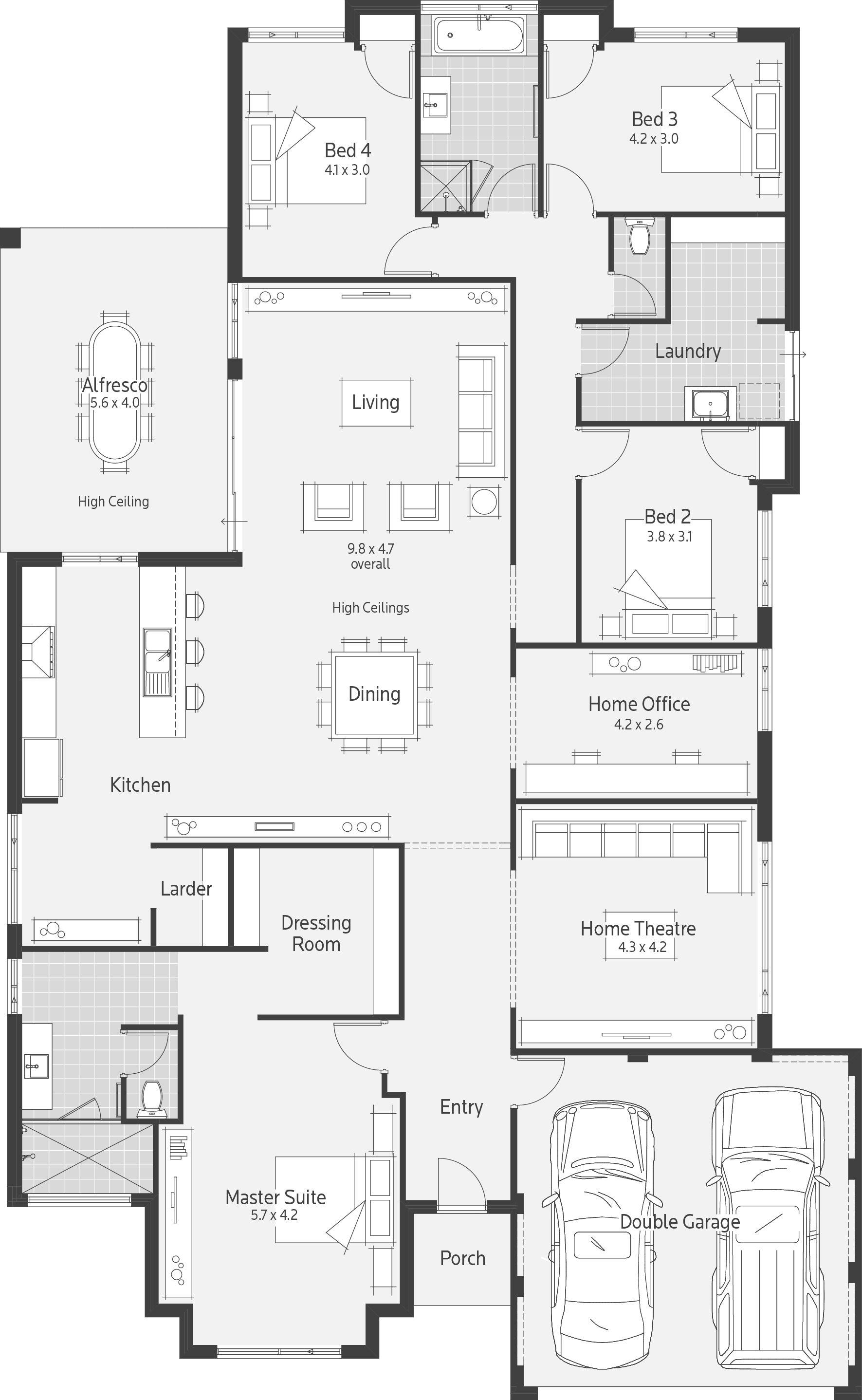 St Ali Dale Alcock Homes Home Design Floor Plans Floor Plans