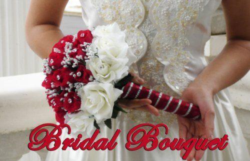 Wedding bouquet bridal package bridesmaid groom boutonniere corsage wedding bouquet bridal package bridesmaid groom boutonniere corsage silk flowers love cecilia red cream mightylinksfo