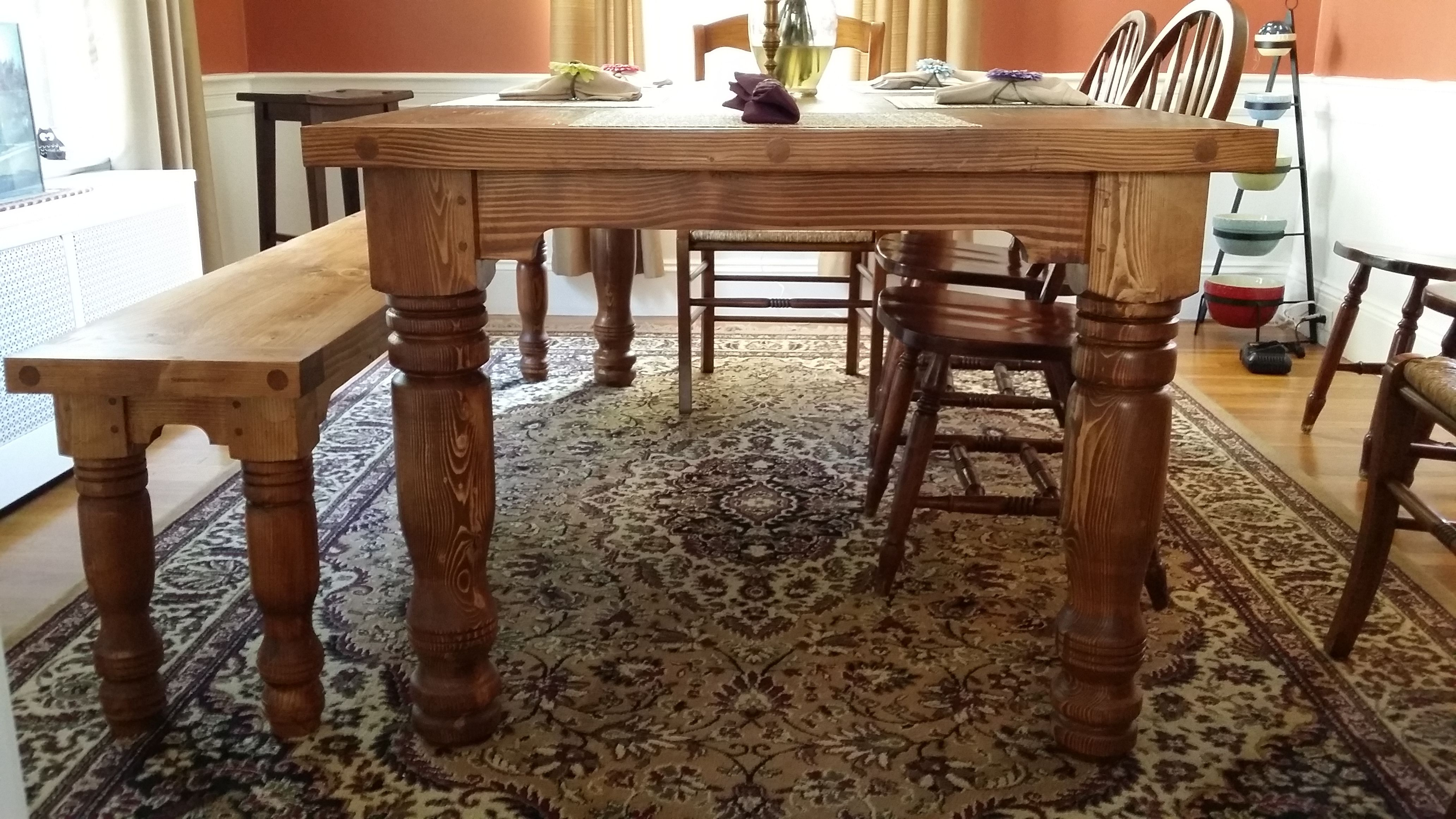 Tradition Turned Legs For An Authentic Old Farm Table Look Farm Table Table Furniture
