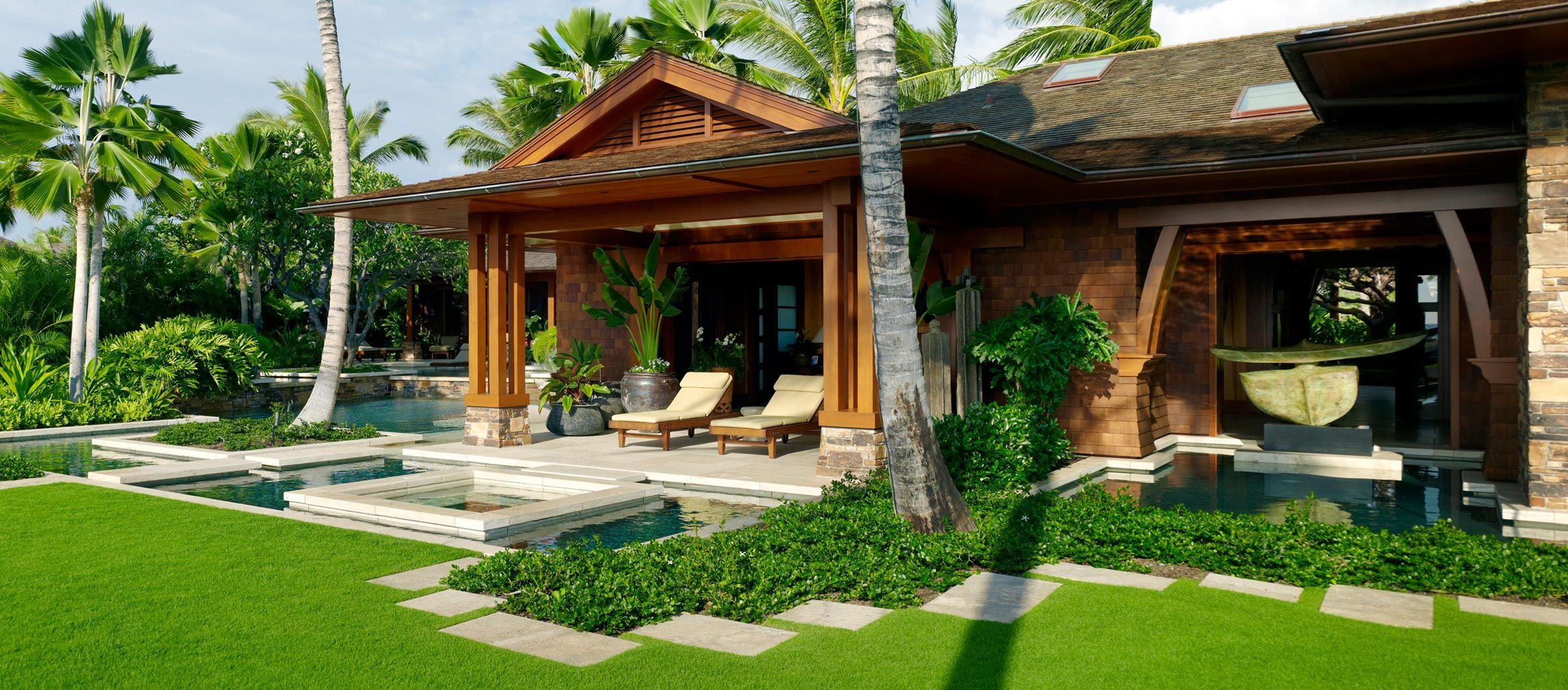 Tropical Craftsman Home Big Island Hawaii De Reus Architects Craftsman House Hawaiian Homes Craftsman House Plans