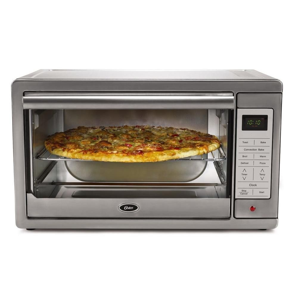 Oster Convection 6 Slice Digital Toaster Oven Stainless Steel