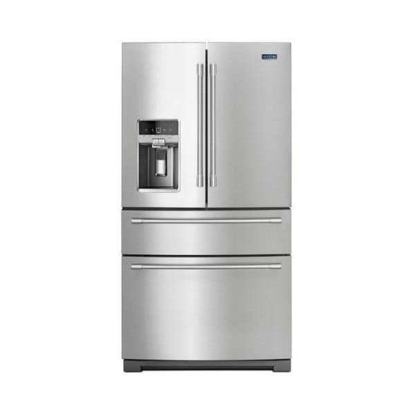 Maytag MFX2676FR 36 Inch Wide 26.2 Cu. Ft. French Door Refrigerator (12,740 MYR) ❤ liked on Polyvore featuring home, home improvement, household appliances, french door and refrigerators