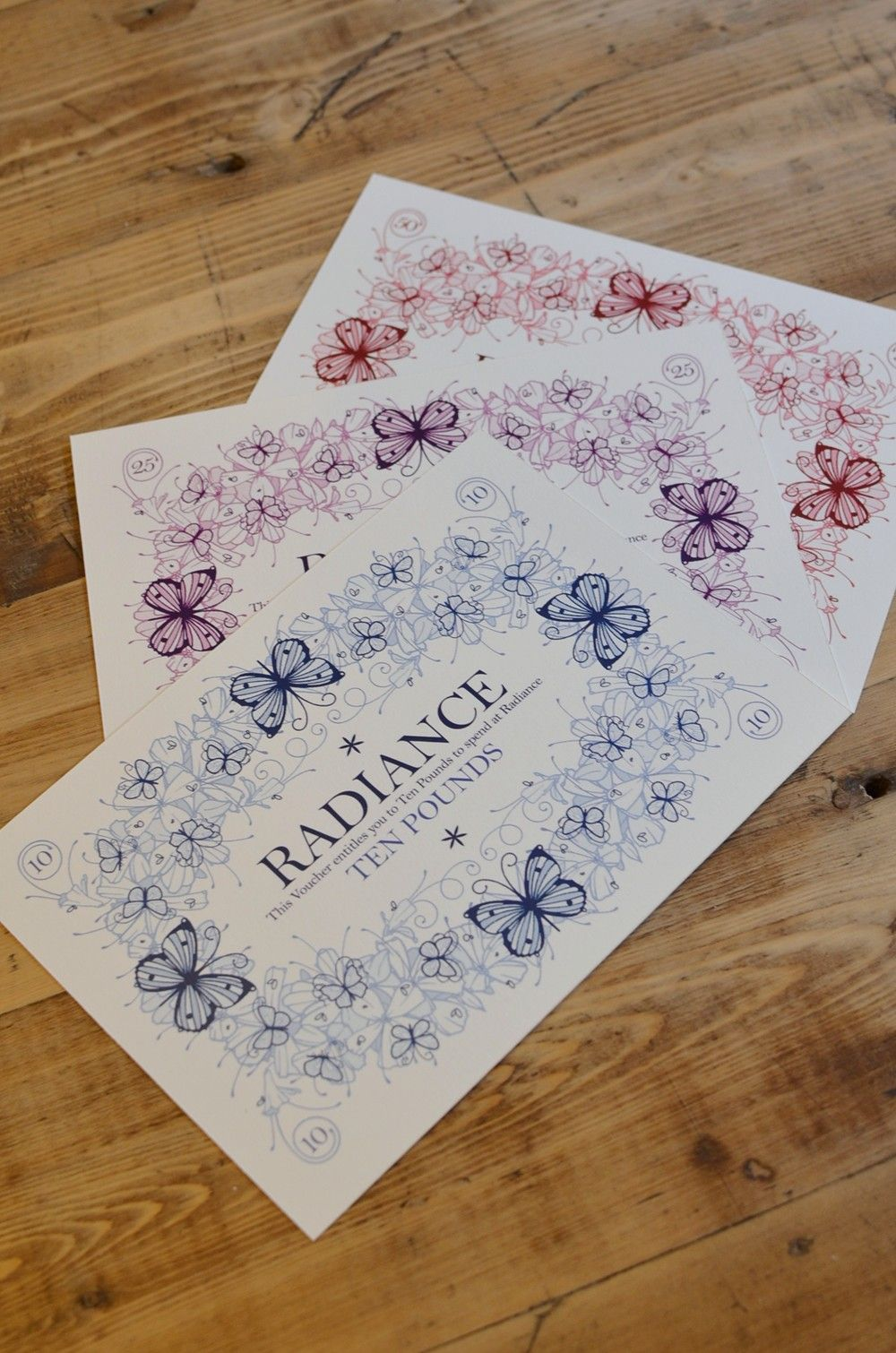 Beautiful gift vouchers available in £10, £25 or £50 amounts. - Radiance