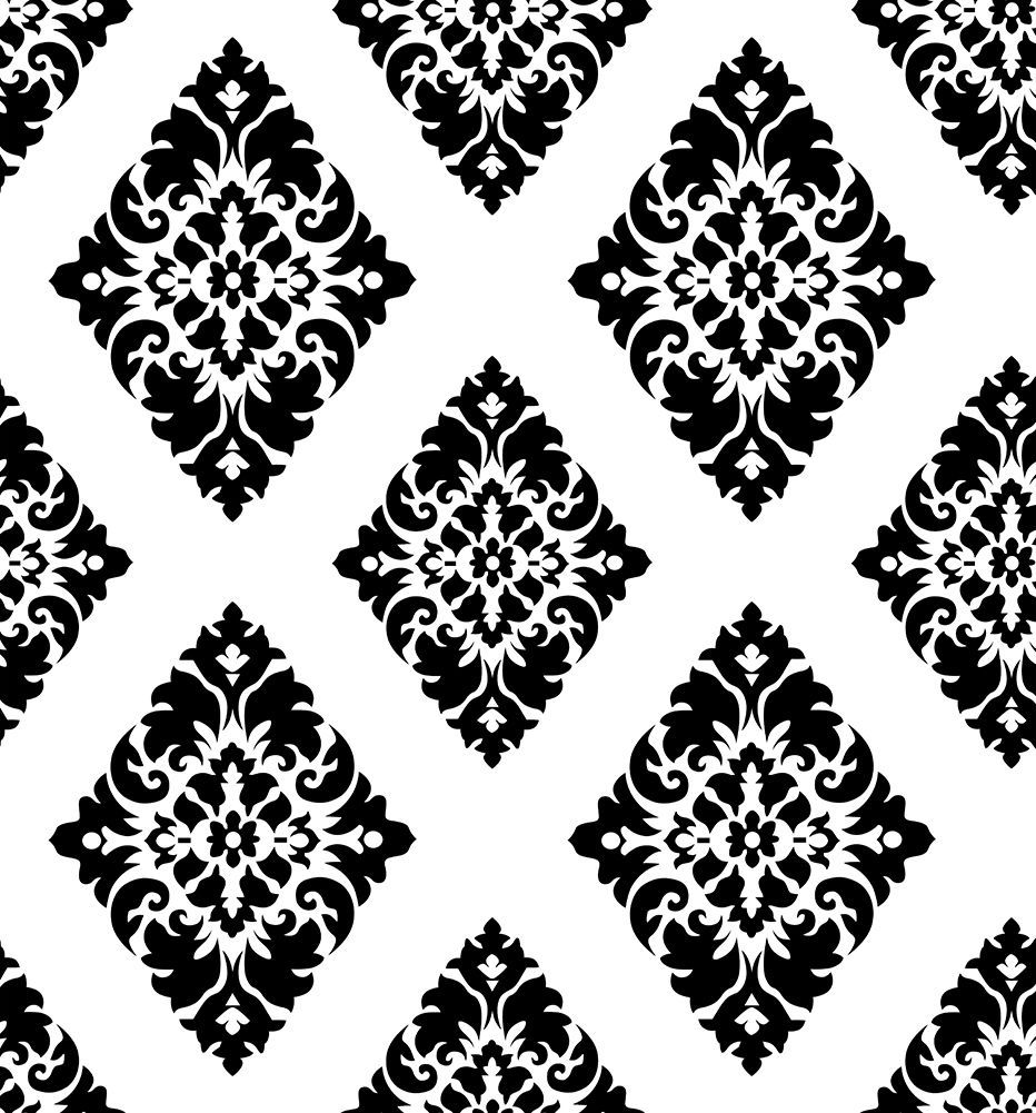 Vintage Damask Peel And Stick Wallpaper Black White Self Adhesive Contact Paper Ebay Peel And Stick Wallpaper Wallpaper Drawers Self Adhesive Wallpaper