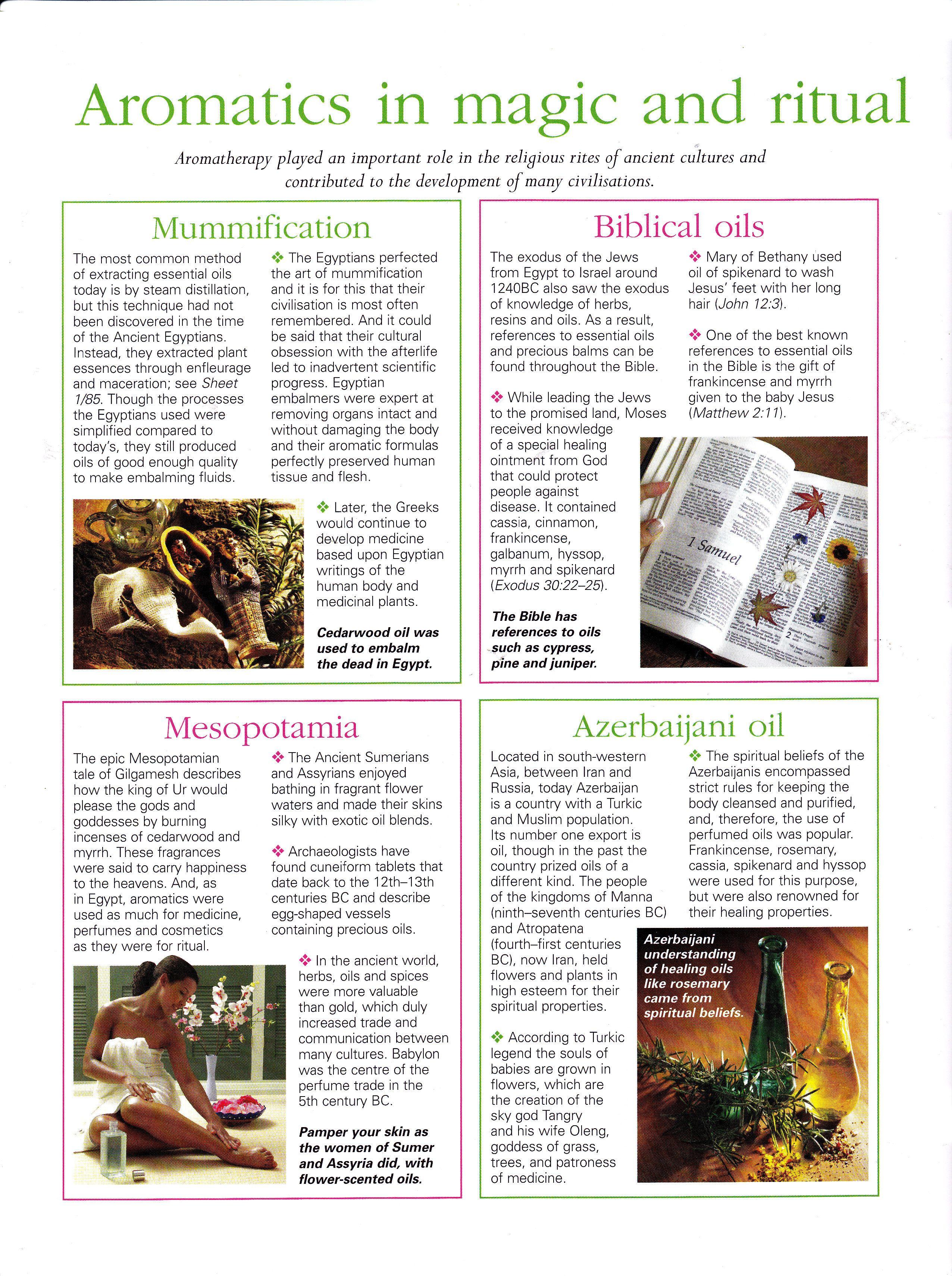 Aromatics in magic and ritual