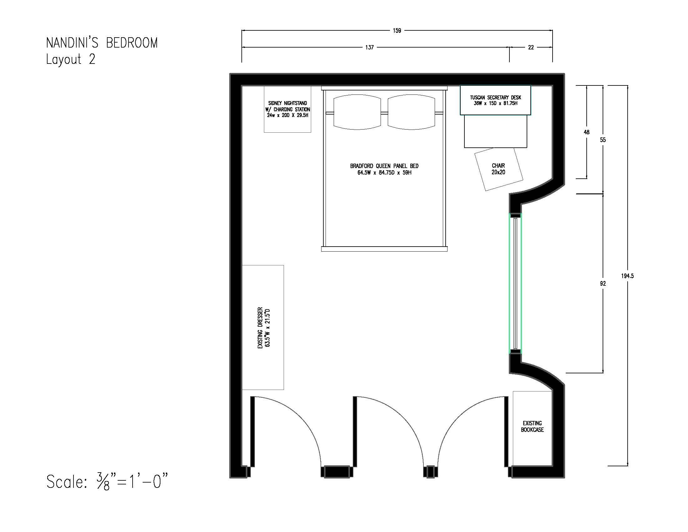 layout 2 - 10/11/17 | Bedroom layouts, Layout, Tall shelves