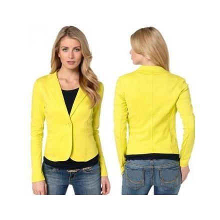 b27941e4eba Chaqueta Blazer Casual Cuello V para Mujer-Amarillo | vestidos y ...