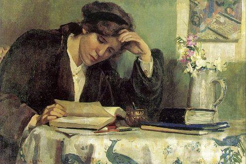 Uma estudante – Paris, 1913    Ethel Pennewil Brown Leach (EUA, 1878-1959)