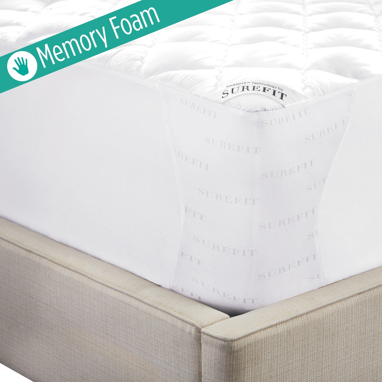 Topper Traagschuim Madison.Sure Fit Memory Foam Mattress Pad In 2019 Products