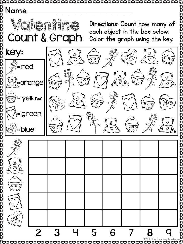 Valentine Kindergarten Pack ~ Print & Go, No Prep ~ CCSS