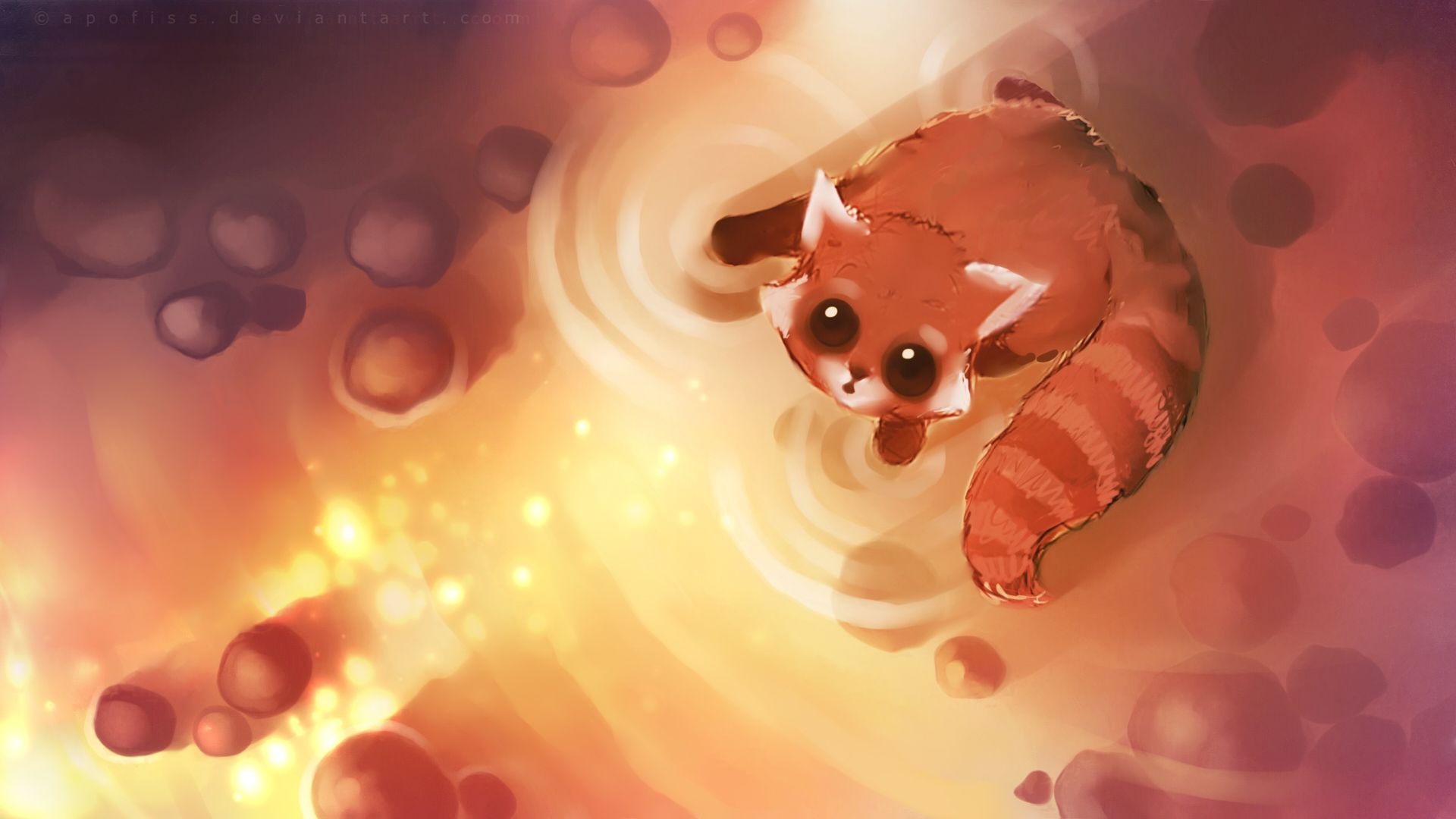 Download Cute Fox Cartoon Wallpaper 1920x1080 HD