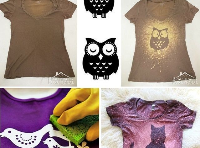 DIY – Make Your Own Trendy Bleached T-shirt - AllDayChic