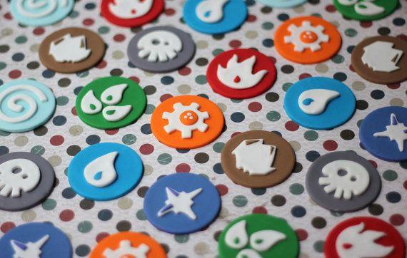 Fondant Cupcake Toppers - Elements and Portals Fondant Toppers - Perfect for Cupcakes, Cookies and Other Edibles