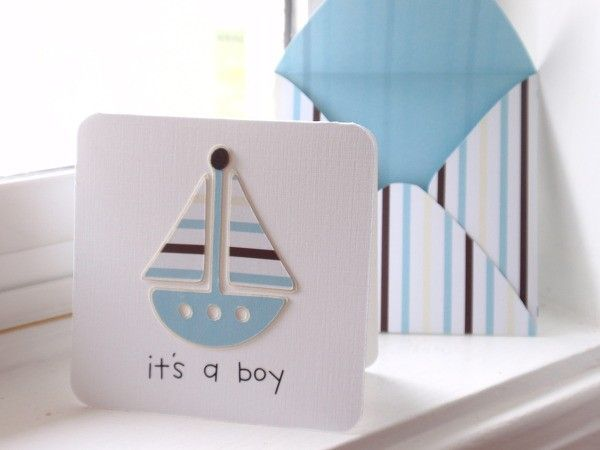 It's a boy enclosure card - bjl