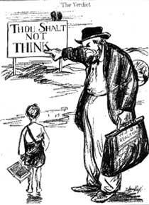 Political Cartoon Describing The Scopes Monkey Trial Monkey